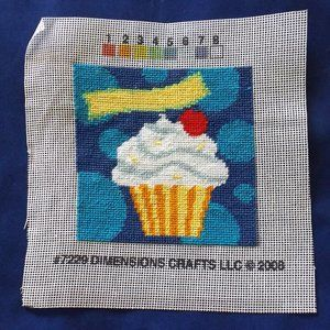 Finished needlepoint picture, no frame (#301)